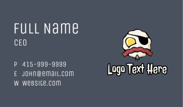 Bacon Egg Breakfast Pirate Business Card