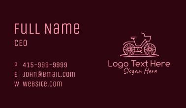 Minimalist Pink Bike  Business Card