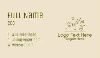 Campsite Outline Business Card