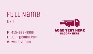 Wine Bottle Truck Business Card