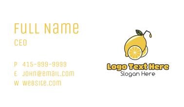 Lemonade Juice Cart Business Card
