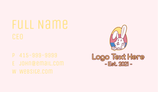 Multicolor Easter Bunny  Business Card