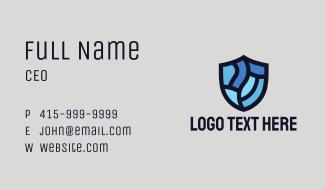 Blue Crest Shield  Business Card