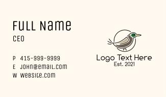 Mallard Duck Badge Business Card