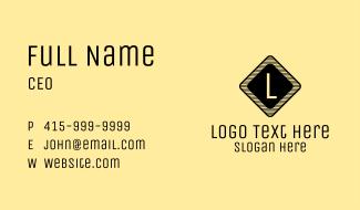 Warning Symbol Lettermark  Business Card