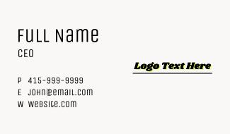 Stationery Wordmark Business Card