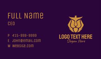 Gold Eagle Lion  Business Card