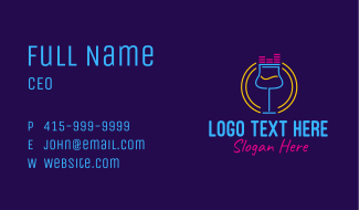 Neon Music Bar Business Card