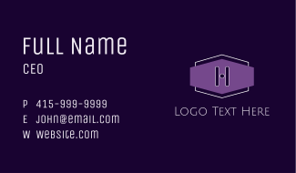 Purple H Badge Business Card