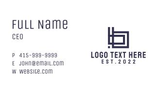 Blue Letter B Square Business Card