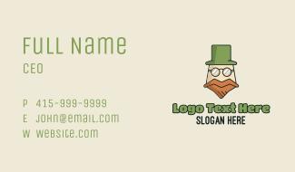 Old Leprechaun Mascot Business Card