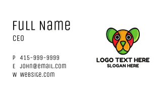 Colorful Watchdog Business Card