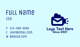 Video Camera Mail Business Card