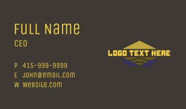 Egypt Pyramid Wordmark Business Card