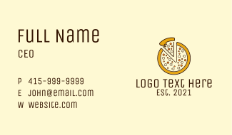 Pizza Toppings Slice  Business Card