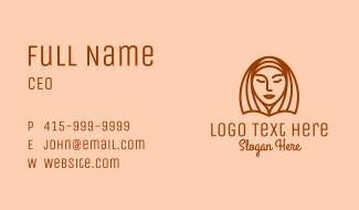 Woman Beauty Face   Business Card