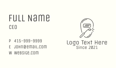 Minimalist Industrial Welder Business Card