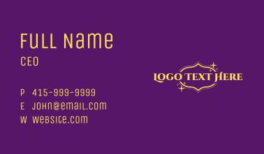 Magical Arabic Wordmark Business Card