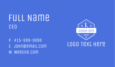 Vintage Badge Letter Business Card