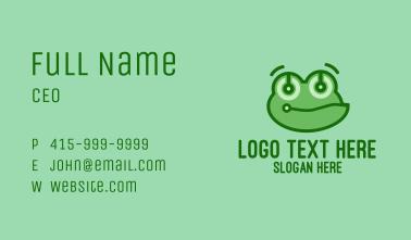 Cute Tech Frog Business Card