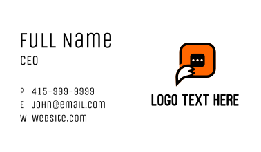 Fox Chat Software Business Card