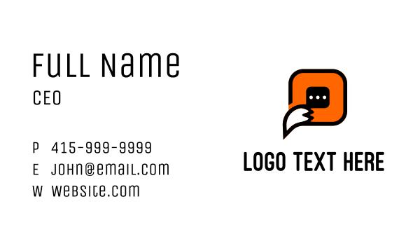 language - Fox Chat Software Business card horizontal design