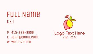 Strawberry Lemonade Business Card