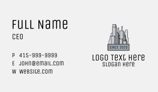 Urban City Buildings  Business Card