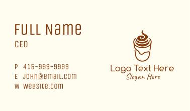 Brown Monoline Milkshake Business Card