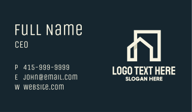White House Building Monoline Business Card