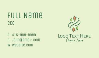 Elegant Tulip Flowers Business Card