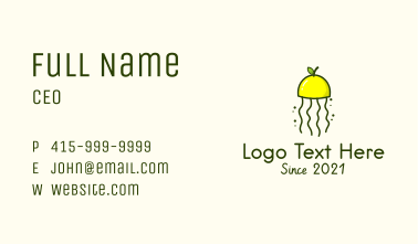Lemon Citrus Jellyfish Business Card