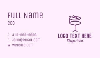Simple Purple Drum Business Card