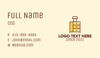 Classic Lamp Cabinet Business Card