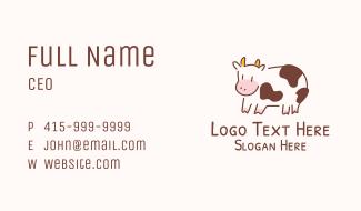 Baby Cow Calf Animal Business Card
