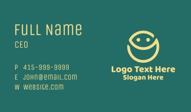 Happy Face Emoji Business Card