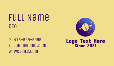 Coffee Planet  Business Card