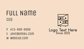 Geometric Drawer Furniture Business Card