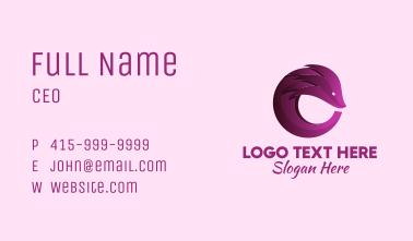 Gradient Pangolin Animal Business Card