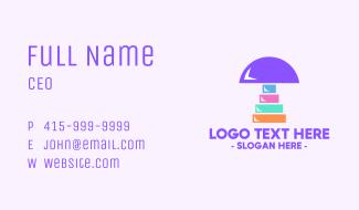 Colorful Mushroom Business Card