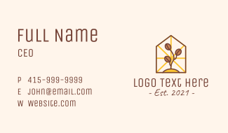 Coffee Farm House Business Card