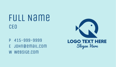 Simple Fish Hook Letter G  Business Card