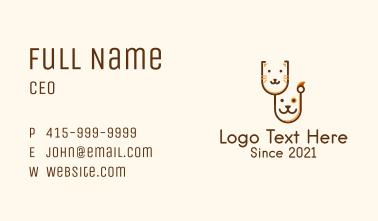 Animal Veterinary  Business Card