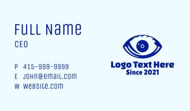 Blue Optic Eye Business Card