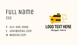 Modern Online Taxi  Business Card