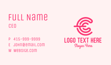 Cosmetic Power Letter C Business Card