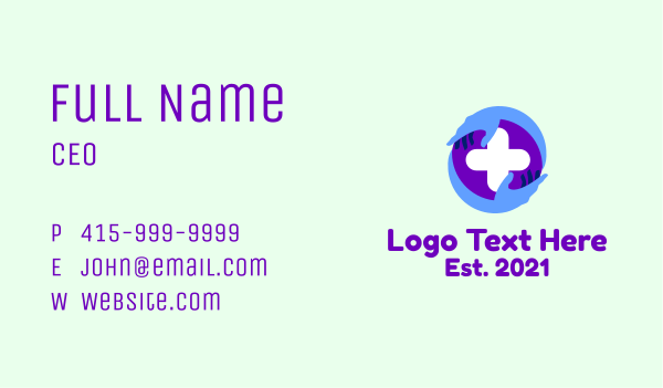 help - Medical Healthcare Cross Business card horizontal design