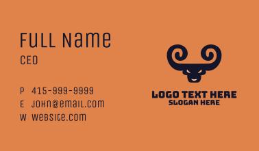 Spiral Horn Bull Business Card