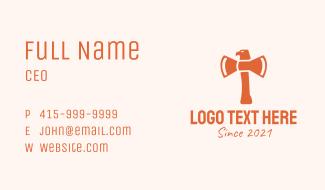 Orange Eagle Axe  Business Card