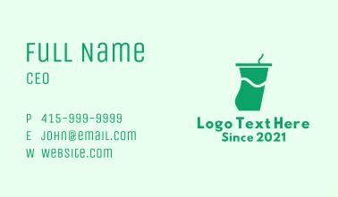 Green Juice Tumbler Business Card